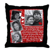 Rolando's Wife's Throw Pillow