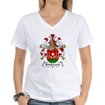 Brinkmann Family Crest Women's V-Neck T-Shirt