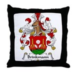 Brinkmann Family Crest Throw Pillow