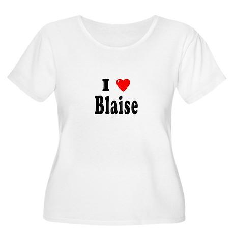 BLAISE Womens Plus-Size Scoop Neck T