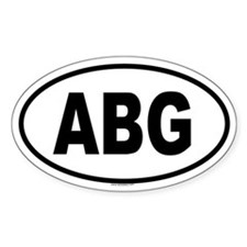 ABG Oval Decal