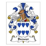 Brewer Family Crest Small Poster