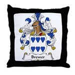 Brewer Family Crest Throw Pillow