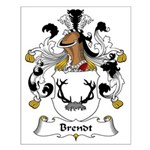 Brendt Family Crest Small Poster