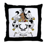 Brendt Family Crest Throw Pillow
