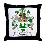 Bremer Family Crest Throw Pillow