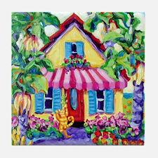 Tabby Cottage Tile Coaster