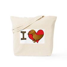 I heart dachshunds Tote Bag
