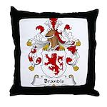 Brandis Family Crest Throw Pillow
