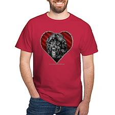 Black Labradoodle Valentine T-Shirt