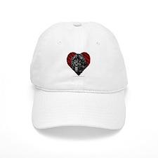 Black Labradoodle Valentine Baseball Cap