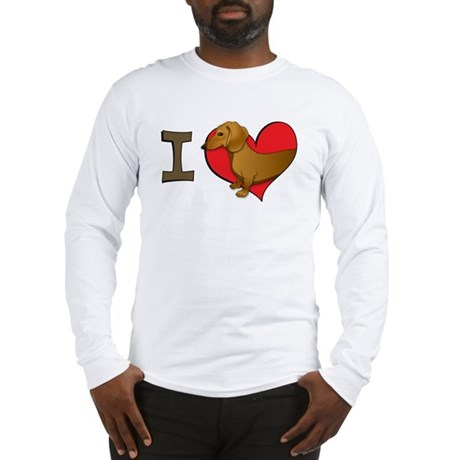 I heart dachshunds Long Sleeve T-Shirt