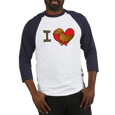 I heart dachshunds Baseball Jersey
