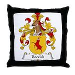 Boeckh Family Crest Throw Pillow