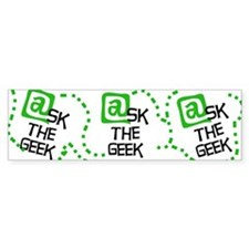 @sk the Geek Bumper Bumper Sticker