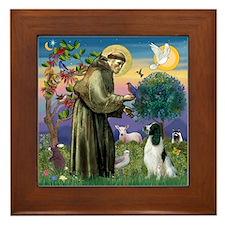 St Francis & English Springer Framed Tile