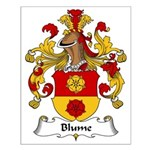 Blume Family Crest Small Poster