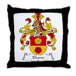 Blume Family Crest Throw Pillow