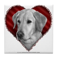 Yellow Lab Valentine Tile Coaster