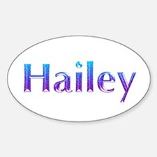 Glitter Name Hailey Oval Decal