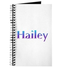 Glitter Name Hailey Journal