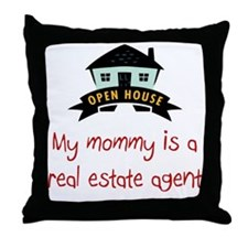 Real Estate Sales Throw Pillow