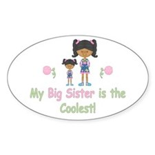Coolest Big Sister (aa) Oval Decal
