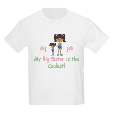 Coolest Big Sister (aa) Kids Light T-Shirt