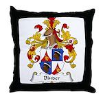 Binder Family Crest Throw Pillow