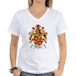 Billinger Family Crest Women's V-Neck T-Shirt