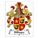 Billinger Family Crest Small Poster