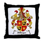 Billinger Family Crest Throw Pillow