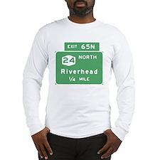 Riverhead, NY Exit T-shirts Long Sleeve T-Shirt
