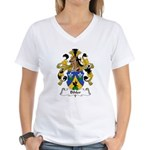 Bihler Family Crest Women's V-Neck T-Shirt