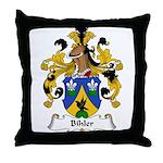 Bihler Family Crest Throw Pillow