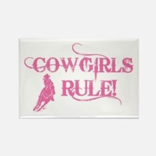 Cowgirls Rule Rectangle Magnet