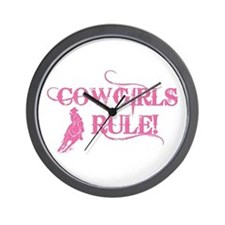 Cowgirls Rule Wall Clock