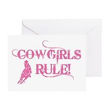 Cowgirls Rule Greeting Card