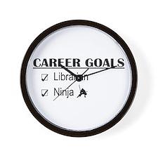 Librarian Career Goals Wall Clock
