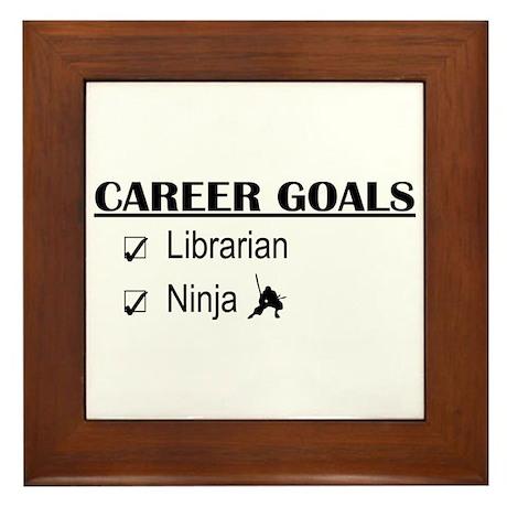 Librarian Career Goals Framed Tile