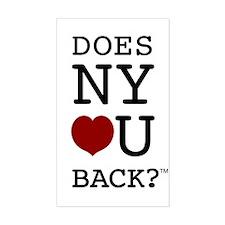 """DOES NY LOVE U BACK?"" Decal"