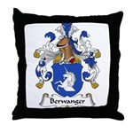 Berwanger Family Crest Throw Pillow