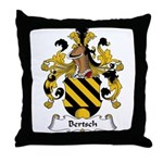 Bertsch Family Crest Throw Pillow