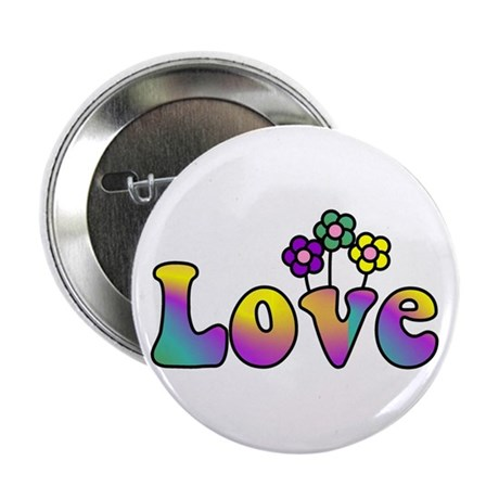 """With Love, All Things Grow 2.25"""" Button (10 pack)"""