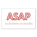 As Southern As Possible Rectangle Sticker
