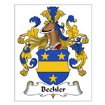 Bechler Family Crest Small Poster