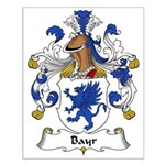 Bayr Family Crest Small Poster
