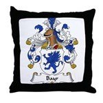 Bayr Family Crest Throw Pillow