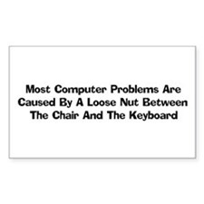 Loose Nut At Keyboard Rectangle Decal