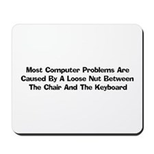 Loose Nut At Keyboard Mousepad
